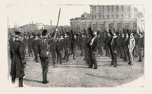 STOKERS FOR THE BRITISH NAVY, AT PHYSICAL DRILL, engraving 1890, UK, U.K., Britain