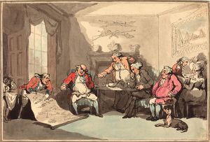 Thomas Rowlandson (British, 1756 1827 ), A Militia Meeting, probably 1799, hand