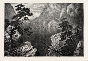 VIEW OF THE SIERRA MADRE, ROCKY MOUNTAINS, UNITED STATES OF AMERICA, US, USA, 1870s