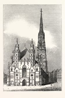 View of St. Stephen's Church at Vienna