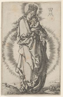 The Virgin and Child on a Crescent Moon, 1553, Engraving, Sheet: 4 5/8 × 3 1/16 in