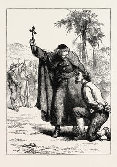WALKER BEFORE HIS EXECUTION, US, USA, 1870s engraving
