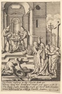 "The washing of hands, 1625a€""77, Etching, only state, Sheet: 3 1/2 A— 2 5/16 in. (8"