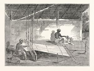 Weaving in Ceylon: Process of Weaving by the Cingalese