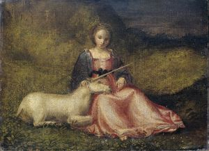 Woman with Unicorn, Anonymous, c. 1510