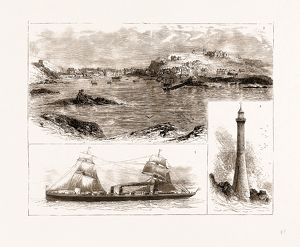 THE WRECK OF THE 'SCHILLER' ON THE SCILLY ISLES, 1875: 3. Hugh Town, St